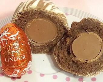 Easter gift etsy lindor scotch eggs chocolate brownie egg easter egg sweet scotch egg alternative negle Images