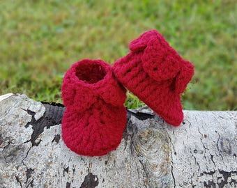 Crocodile Stitch Ankle Booties, Baby Booties, Crochet Baby Booties, Unisex Baby Shoes, Baby Girl Shoes, Baby Boy Shoes