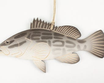 Black Grouper Fish Christmas Ornament