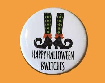Happy Halloween Witches, Halloween Badge, Rude Badge, Halloween, Witch
