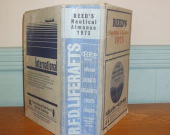 Reed's Nautical Almanac Dated 1973 Yachting Boating Tide Tables Marine Maritime Boat Advertising And Information