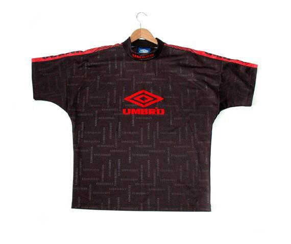 Rare 90s Black Umbro Football tee