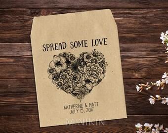 Wedding Seed Packets, Rustic Wedding Favor, Seed Packet Favor, Heart Wedding Favor, Love Favor, Personalized Favor, Seed Favor x 25
