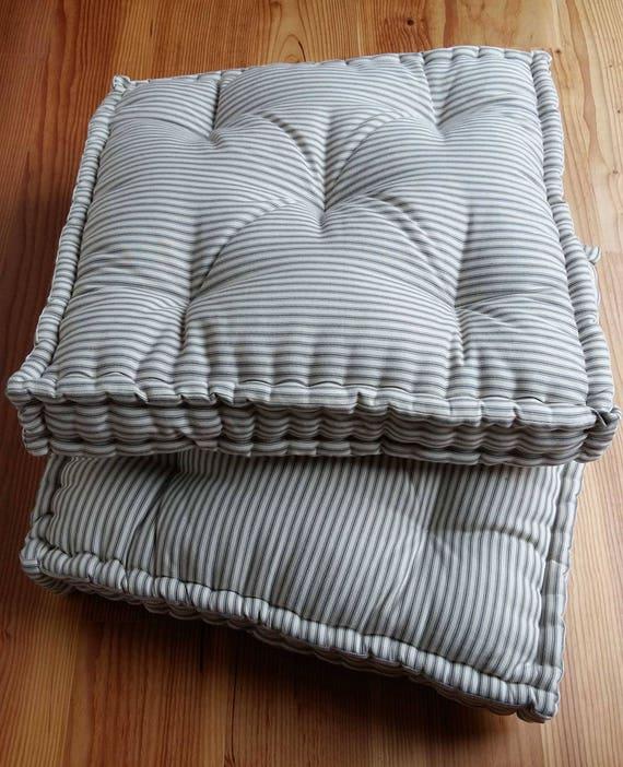 French Mattress Cushion Farmhouse Floor Cushion Ticking