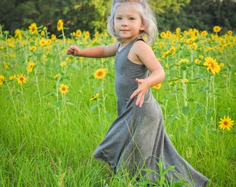 Toddler Hi-Low Racerback Maxi Dress - See Description