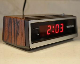 Vintage Westclox Digital Alarm Clock