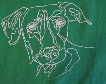 Podenco Tote Bag, Green