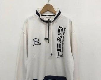 20% OFF Vintage Head Half Zipper Sweater/Head Sport Sweater/Head Pullover/Sportwear Clothing