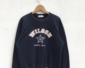 20% OFF Vintage wilson Sweatshirt Big Logo Wilson Sweater Wilson Tennis Clothing Wilson Women Sweatshirt