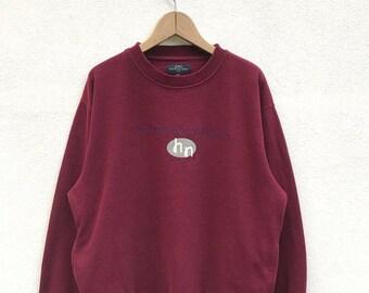 "20% OFF Vintage Hiromichi Nakano Spell Out Sweatshirt / Japanese Designer / Hiromichi Nakano Crewneck / Armpit 23"""