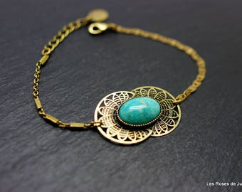 Bracelet art deco amazonite