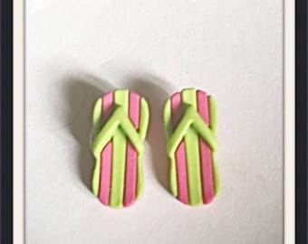 Kid S Cute Sandal Flip Flops Earrings Pictures Etsy