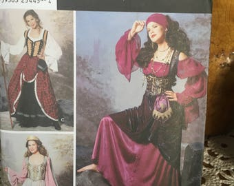 Simplicity pattern 9966, sizes HH 6 to 12, Heigl & Nordstrom designs. gypsy or pirate dress. New pattern.