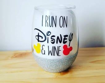 I run on disney and wine glass