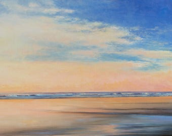 Beach painting modern coastal sunset painting large wall art contemporary fine art by Don Bishop