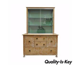 Vintage Mid Century Modern Art Deco Cerused Oak China Display Cabinet James Mont