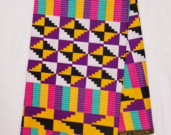 Kente Fabric, African fabric by the yard, African fabric, African clothing, Ankara fabric, African wax print fabric, tribal kente print