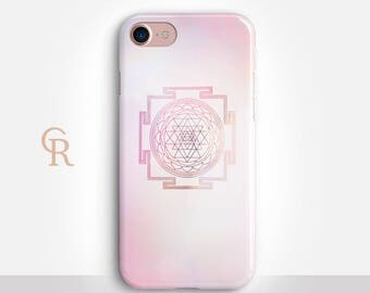Sriyantra Phone Case For iPhone 8 iPhone 8 Plus iPhone X Phone 7 Plus iPhone 6 iPhone 6S  iPhone SE Samsung S8 iPhone 5 Spiritual Esoteric