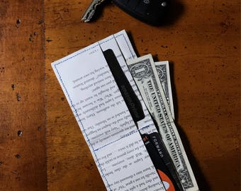 Harry Potter Wallet / Prisoner of Azkaban / Sewn Book Page Wallet / Paper Wallet / Recycled / Book Lover Wallet / Book Nerd Gift
