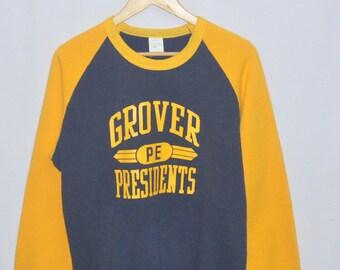 Vintage PE Grover President Sweatshirt Sweater Crewneck Large Size