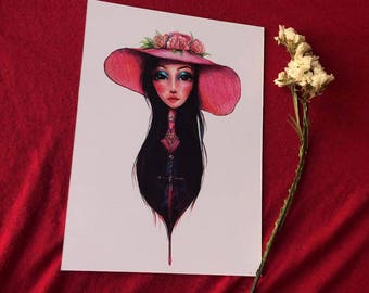 """THE LOVE WITCH 5""""x7"""" Art Print"""