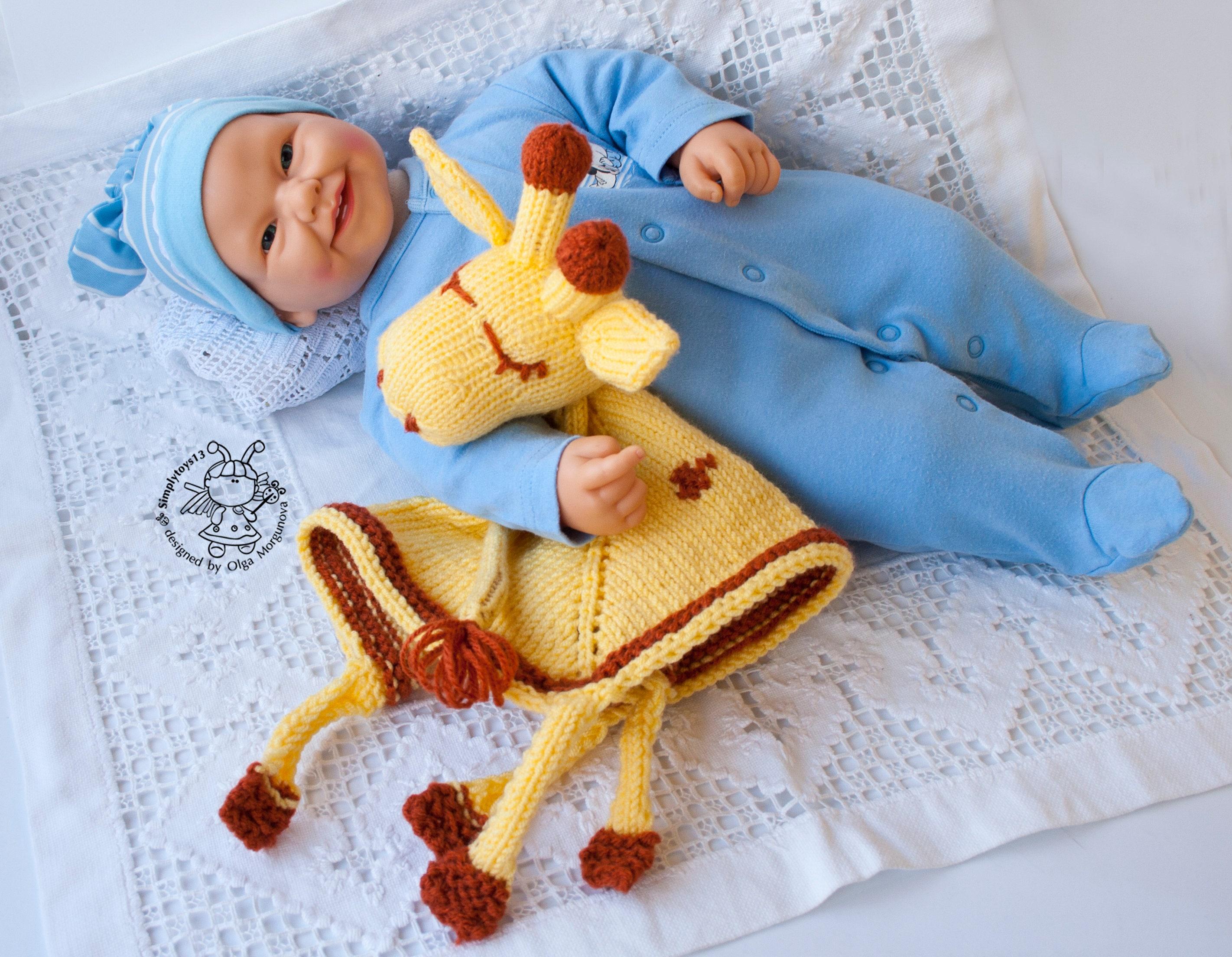Giraffe Baby Blanket Knitting Pattern : Giraffe Toy Baby Blanket. Amigurumi Giraffe. Knitting Baby Blanket. GiraffeTo...