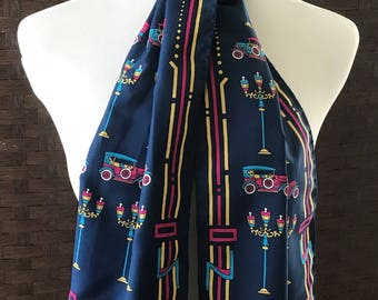 Vintage Andante Scarf Made In Italy, Vintage Designer Scarves, Vintage Accessories, Accessories, Women Scarves. Long Vintage Scarf.