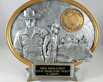 United States Marine Corps Resin Oval Award-Free Engraving!