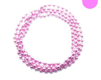 NECKLACE 60cm ball chain 2.2 mm hot pink