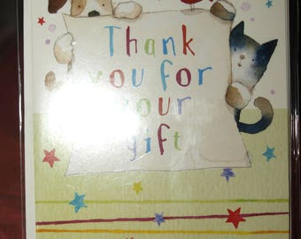 Pack of 5 Thank You for Your Gift Notecard and Envelopes