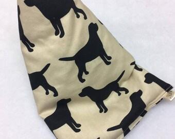 Black Labrador Tablet/Ipad beanie cushion