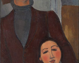 Poster, Many Sizes Available; Amedeo Modigliani Jacques And Berthe Lipchitz
