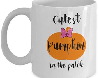 Cutest Pumpkin in the Patch Coffee Mug, Fun Halloween Coffee Mug, Gift for Halloween