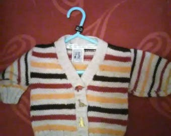 Hand knitted cardigan aged 3-6 months