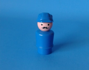 """Fisher Price Little People """" #945 Offshore Cargo Captain HTF RARE """" 1970's"""