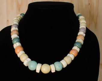 Spaced Coral Candy Necklace