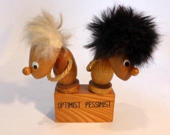 Hans Bolling Danish Optimist/Pessimist wine corks – original from the 1970s
