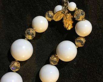 Vendome White and Crystal Necklace