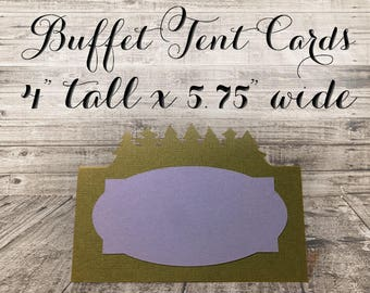 Large Tent Card With Die Cut Pine Trees — Custom Colors Available