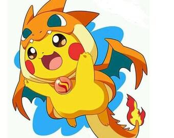 Grille point de croix Pikachu