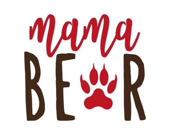 Mama Bear Decal No. 6