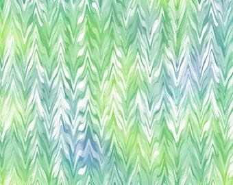 Quilting Treasures - Belle - Watercolor Cheveron - 26420-WG - Studio 8 - Periwinkle - Jade - Green - Blender - One More Yard