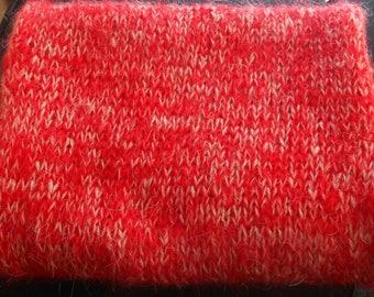 Handmade scarf very soft red and beige