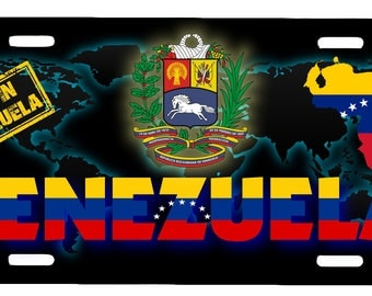 "Venezuela Aluminum License Plate Placa  6"" x 12"""