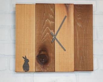 Medium Wood Wall Clock - Mr Rabbit