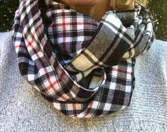 Plaid Flannel Infinity Scarf