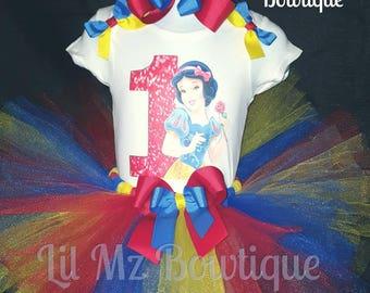 Snow White tutu, snow white tutu outfit, snow white outfit, snow white tutu dress, snow white birthday tutu, snow white dress, snow white