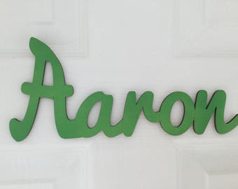 Green Cut Out Wooden Name Sign (PRICE PER LETTER)