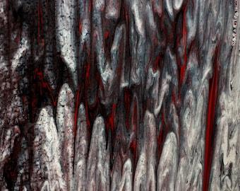 Original abstract drip painting
