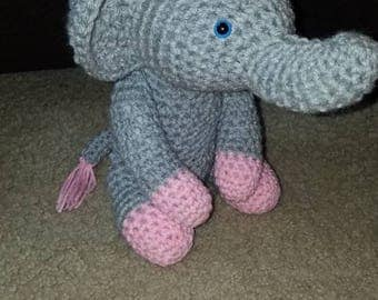 Crochet, Elephant, toy, stuffed animal, baby